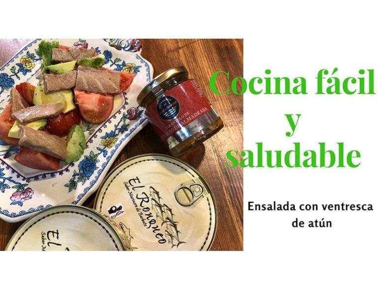 Receta de Xavi Lahuerta para MadeinSpain.store: Ensalada Gourmet con Atún Rojo de la Almadraba de Cádiz de El Ronqueo
