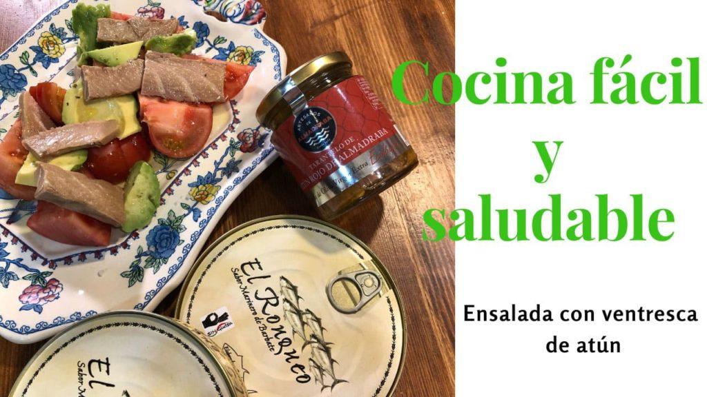 Receta: Ensalada Gourmet con Atún Rojo de la Almadraba de Cádiz de El Ronqueo